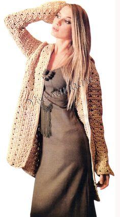 #knitting #knitwear #crochet #woman #fashion #pinzet                                                                                For supply email : pinzet.com2013@yahoo.com  Crochet Jacket #2dayslook #CrochetJacket #kelly751 #lily25789 #anoukblokker  http://2dayslook.com  www.2dayslook.com