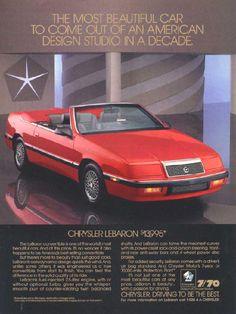 Chrysler LeBaron this was my dream car when I was a kid Chrysler Lebaron, Dodge Chrysler, Ram Trucks, Retro Cars, Vintage Cars, My Dream Car, Dream Cars, Mopar, Chrysler Convertible