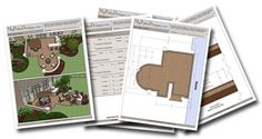 Downloadable patio designs with everthing you need to price, layout and build your patio.