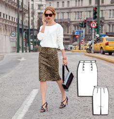 Pencil Skirt 08/2015 #burdastyle #sewingpattern #skirtpattern #diy