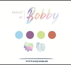 Watercolour Makeup Logo Graphic Design Brisbane