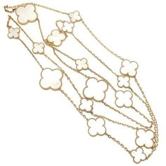Magic Alhambra Mother of Pearl Necklace - Van Cleef & Arpels, $19,900