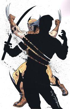 Wolverine ( X-Men ) // Marvel // Art Marvel Wolverine, Logan Wolverine, Marvel Fan, Marvel Heroes, Comic Book Characters, Marvel Characters, Comic Character, Comic Books Art, Book Art