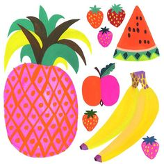 Wishing you a bright, colorful and delicious weekend! #fridayfruits Layered PSD…