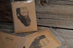 Carte de souhait Barbe à papa par Glaneuses Etsy, Father's Day, Beards, Handmade Gifts