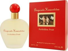 Desperate Housewives Forbidden Fruit By Coty For Women. Eau De Parfum Spray 3.4-Ounces by Coty. $13.41. Packaging for this product may vary from that shown in the image above. This item is not for sale in Catalina Island. Launched by the design house of Coty in 2007, DESPERATE HOUSEWIVES FORBIDDEN FRUIT is a women's fragrance that possesses a blend of Orange Apple, Flower, Peach, Pepper, Jasmine, Passion Lily, Sandalwood, Ylang, Cedarwood, VanillaWhen applying a...