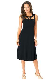 134efe99d0 Romans Plus Size Cut Out Dress Plus Size Dresses