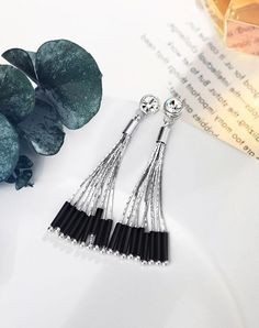 VIPme (VIPSHOP Global) - NEOGLORY Black Earrings - AdoreWe.com