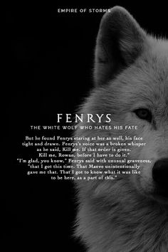 fenrys | the white wolf who hates his fate // tog