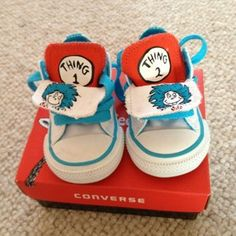 Infants Converse Size UK 3 Dr Seuss Thing 1 And 2. | eBay