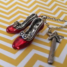 Incredible Gifts and The Oz-Some Power Of Shoes Ruby Slippers Necklace at Perpetual Kid. Dorothy was right, there's no place like home. Top Gifts, Best Gifts, Ruby Red Slippers, Incredible Gifts, Magical Unicorn, Needful Things, Of Brand, Valentines Day, Unique Gifts