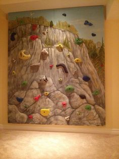 Basement climbing wall Climbing Wall, Basement, Toms, Projects, Painting, Art, Log Projects, Art Background, Root Cellar