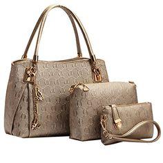 Sale Preis: Coofit® Frauen Weinlese Leder Handtaschen Schulter Beuteltote Schultaschen Hobo Set Gold. Gutscheine & Coole Geschenke für Frauen, Männer & Freunde. Kaufen auf http://coolegeschenkideen.de/coofit-frauen-weinlese-leder-handtaschen-schulter-beuteltote-schultaschen-hobo-set-gold  #Geschenke #Weihnachtsgeschenke #Geschenkideen #Geburtstagsgeschenk #Amazon