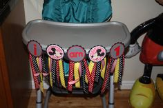 Mickey Mouse or Minnie Mouse I am 1 Highchair Banner on Etsy, $20.00