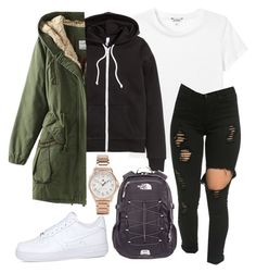 """""""Untitled #197"""" by kingrabia on Polyvore featuring Monki, NIKE, Tommy Hilfiger, H&M and The North Face"""
