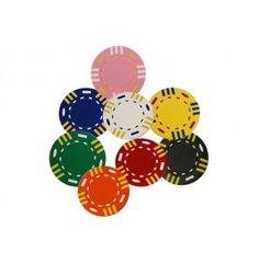 De 12-Stripe chips zijn gemaakt van Clay Composite. Deze chips kunnen uitstekend bedrukt worden met een eigen logo en vallen op dankzij de duidelijk te onderscheiden kleuren.