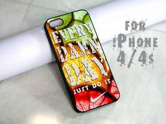 every damn day nike just do it lemon - design case for iphone 4,4s | shayutiaccessories - Accessories on ArtFire