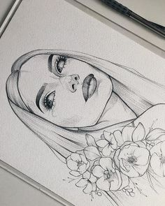 ✔ Aesthetic Drawing Sketches We Heart It Art Drawings Beautiful, Cool Art Drawings, Pencil Art Drawings, Art Drawings Sketches, Easy Drawings, Drawing Ideas, Portrait Sketches, Drawing Faces, Happy Face Drawing