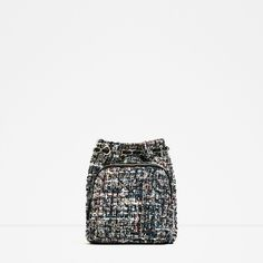 PIKOWANY MINI PLECAK Z TKANINY - NOWOŚCI-KOBIETA | ZARA Polska (260 SEK) ❤ liked on Polyvore featuring white bag, rucksack bags, white mini bag, mini rucksack and day pack backpack