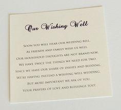 Wedding Wishing Well Card|