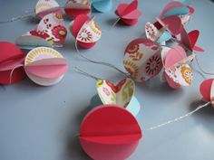 Two Shades of Pink: paper  garland