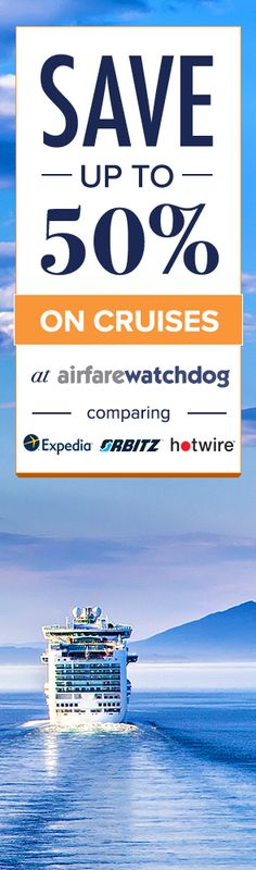 You Can Actually Find the Cheapest Cruises Ever.  Airfarewatchdog helps you save money when you book your next cruise - so you always get the best deal.