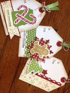 Gorgeous Stampin Up Christmas tags