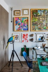 Mexican folk art, plants, feathers, vibrant colors, striking DIY projects and more in this amazing rental in Jalisco, Mexico.