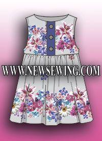 Бесплатная выкройка детского сарафана. Готовая выкройка. | Free Pattern- sundress