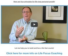 NEW VIDEO BLOG: http://kenlroberts.com - Four principles for life-long personal growth. Please share as well. Thank you! #lifecoaching #focus #personalgrowth