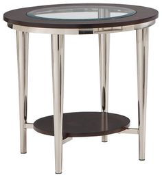 Steve Silver Company Norton 23 Inch Round Glass Top End Table - modern - Side Tables And Accent Tables - Cymax