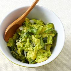 Skinny Guacamole- zucchini mixed in to reduce the fat. Good idea if you tend to overindulge!
