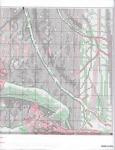 Cardinals in Winter Cross Stitch Bird, Butterfly Cross Stitch, Cross Stitch Animals, Counted Cross Stitch Patterns, Cross Stitch Charts, Cross Stitching, Cross Stitch Embroidery, Winter Christmas Scenes, Christmas Cross