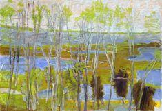 """Wolf Kahn (Born 1927), """"Marsh"""""""