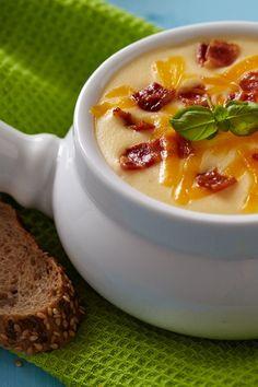 Baked Potato Soup #Recipe