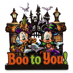 Disney Halloween Sign - Boo to You Mickey and Minnie Mouse, http://www.amazon.com/dp/B00QSSLERQ/ref=cm_sw_r_pi_awdm_LwG1vb2G83Q19