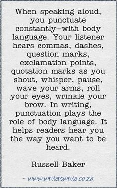 Body #language and punctuation