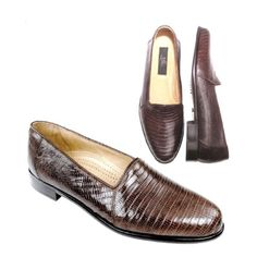 Encore L Genuine Lizard Slip-On | Combining the classic lines of our long time staple, the Encore, we've given the sought after style a unique flair #mensfashion #leathershoes #leather #stylish #shoe #shoelover #shoelovers #SilkRoadEXPO