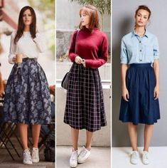 New vintage style fashion tights ideas Modest Dresses, Modest Outfits, Skirt Outfits, Cool Outfits, Casual Outfits, Long Skirt Fashion, Modest Fashion, Fashion Outfits, Moda Vintage