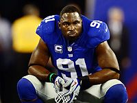 Justin Tuck= former Notre Dame Player with 2 Super Bowl champs under his belt!