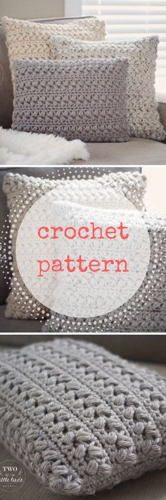 Just the right touch of handmade home decor. This is a crochet pattern for The {Aspen} Pillow. This crochet pillow cover is a super cozy and beautiful pattern #crochet #pattern #ad #etsy #throwpillow #pillow