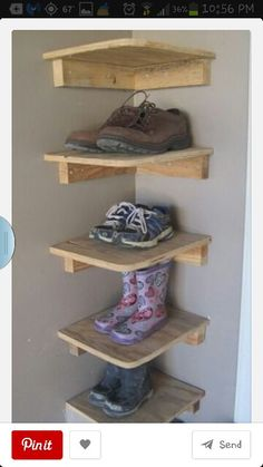 Love this idea! Shoes at entrance. Think we could do this in the garage by the door into the house.