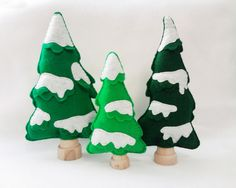 Brand new addition to the Red Marionette family! Felt Snowy Trees