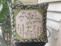 Handmade Pillow  Inspirational Hand Embroidered Pillow