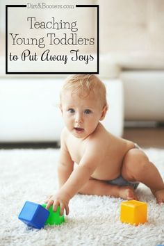 Teaching your toddler to help put away toys