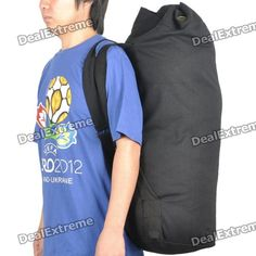 Airsoft Outdoor Military Duffle Bag Backpack - Black  Price: $24.50