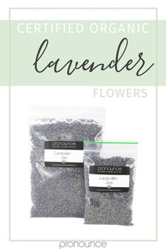 Grab the highest quality lavender flowers in two sizes from the Pronounce Skincare Herbal Boutique. We ship quickly out of Indiana. Browse our selection of herbs, carrier oils, butters, waxes, and more today!