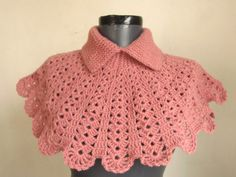 Christmas gift crochet capelet cowl neck warmer by ScarfsSale
