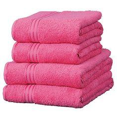 Pink Towels, Pink Bathrooms, Pink Stuff, Pretty In Pink, Favorite Color, Hot  Pink, Raspberry, Aqua, Cloths