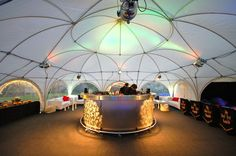 dome marquee round bar